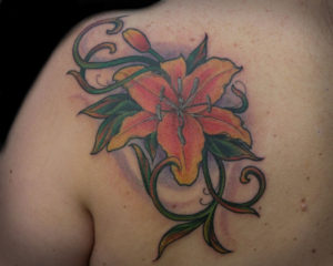 tropical_lilly_tattoo_color
